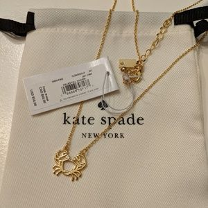 *NWT* ♠️ Kate Spade gold crab 🦀 necklace